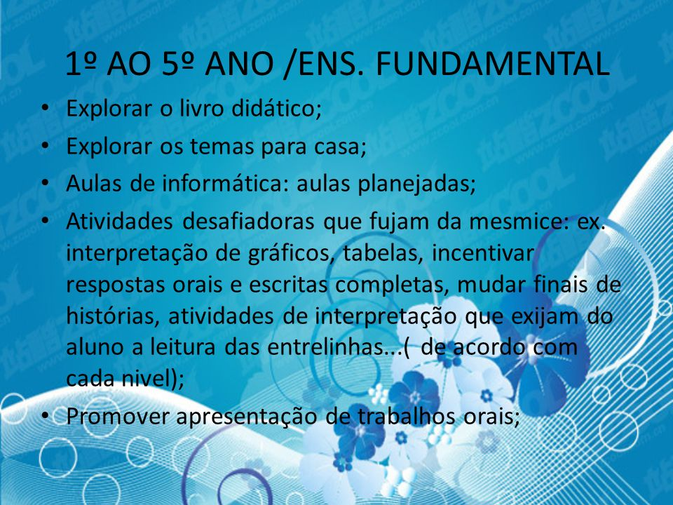 1º AO 5º ANO /ENS. FUNDAMENTAL