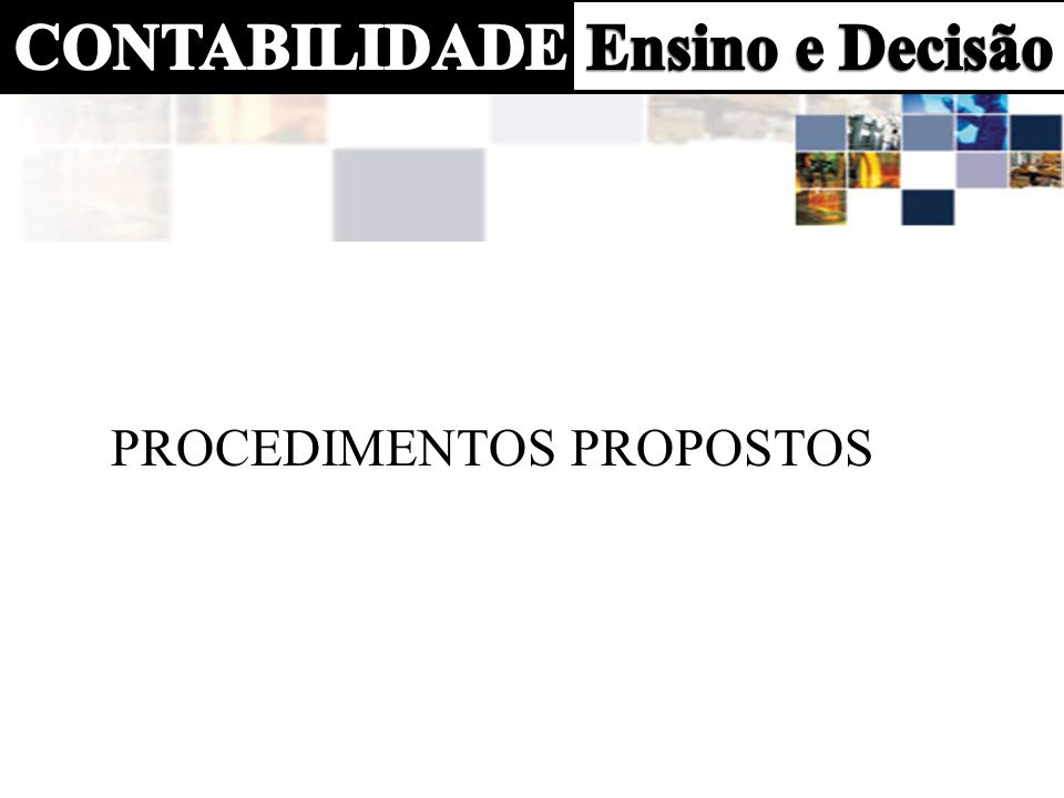 procedimentos propostos