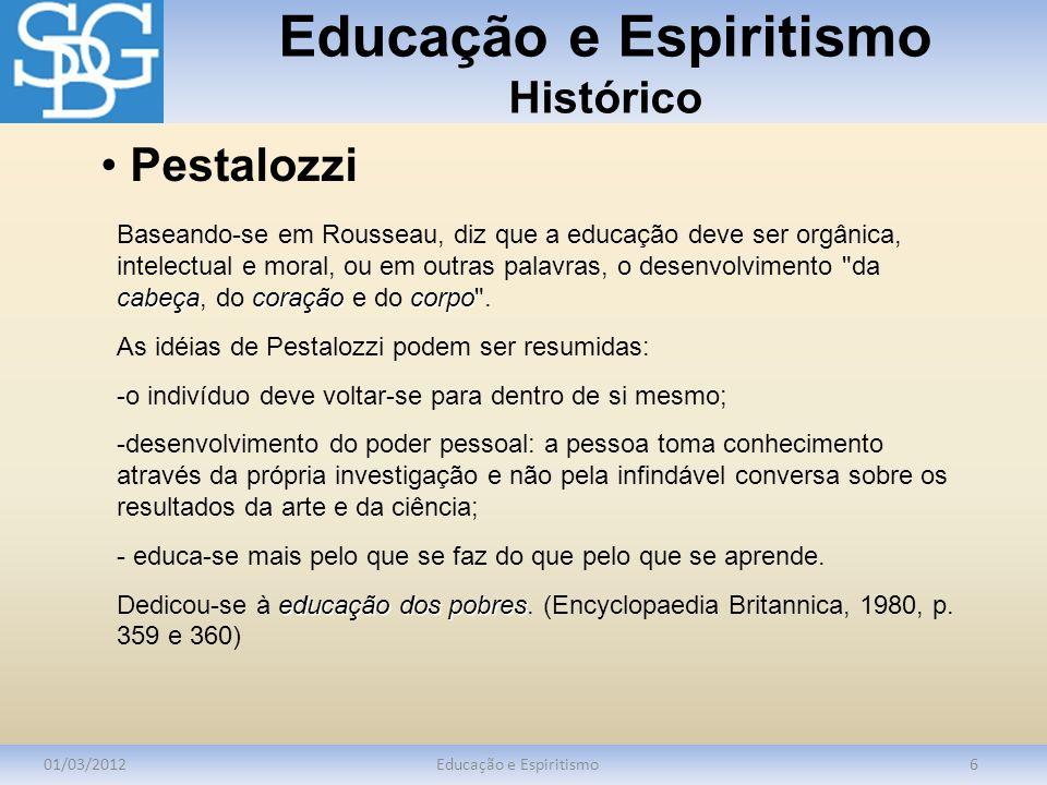 Educação e Espiritismo Histórico