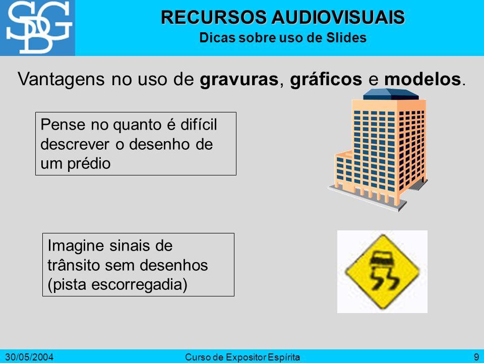 RECURSOS AUDIOVISUAIS Dicas sobre uso de Slides