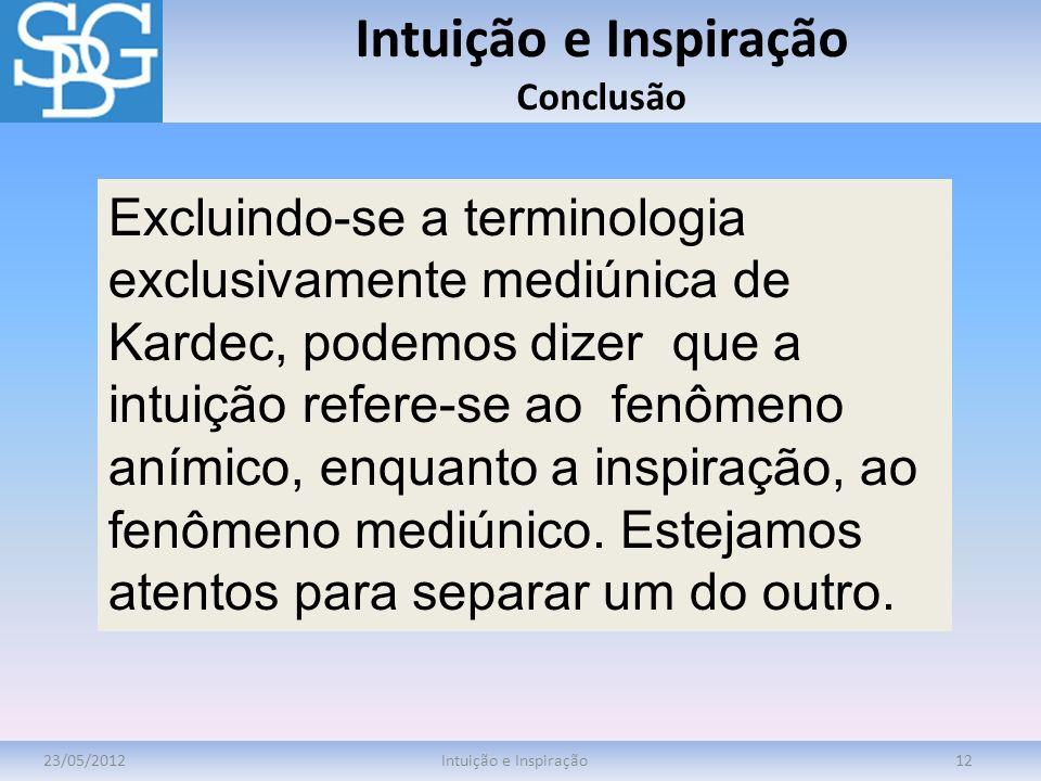 Intuição e Inspiração Conclusão