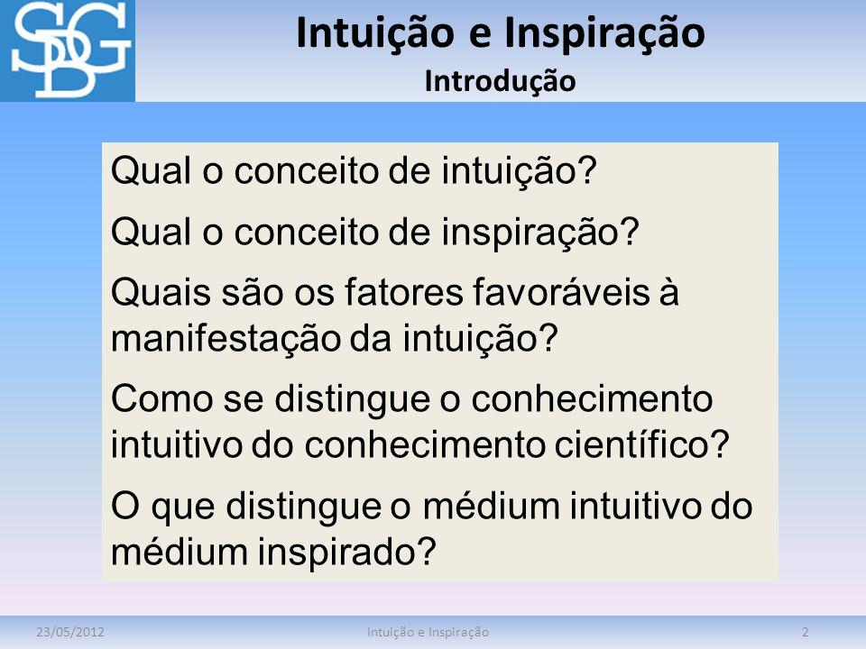 Intuição e Inspiração Introdução