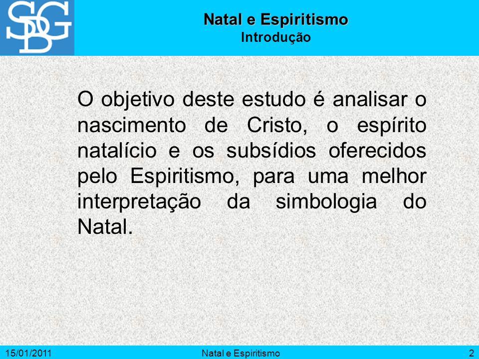 Natal e Espiritismo Introdução.