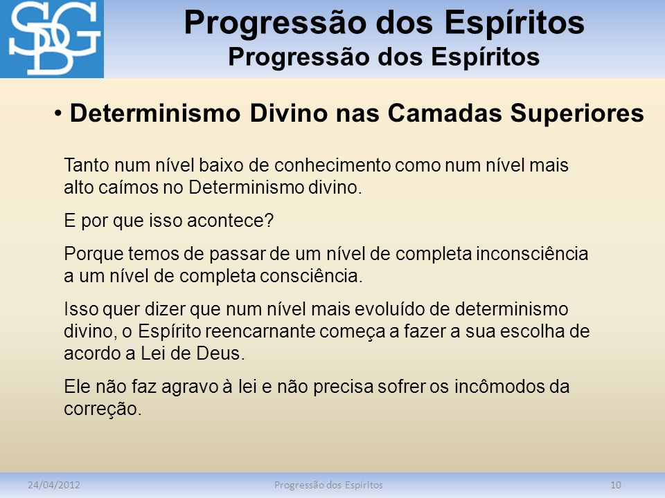 Progressão dos Espíritos Progressão dos Espíritos