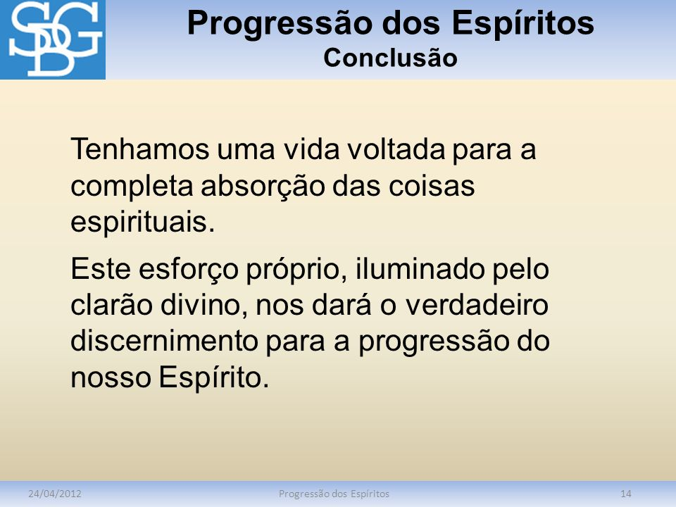 Progressão dos Espíritos Conclusão