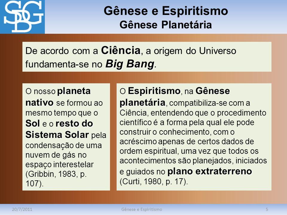 Gênese e Espiritismo Gênese Planetária