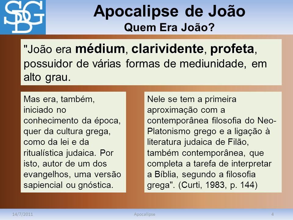 Apocalipse de João Quem Era João