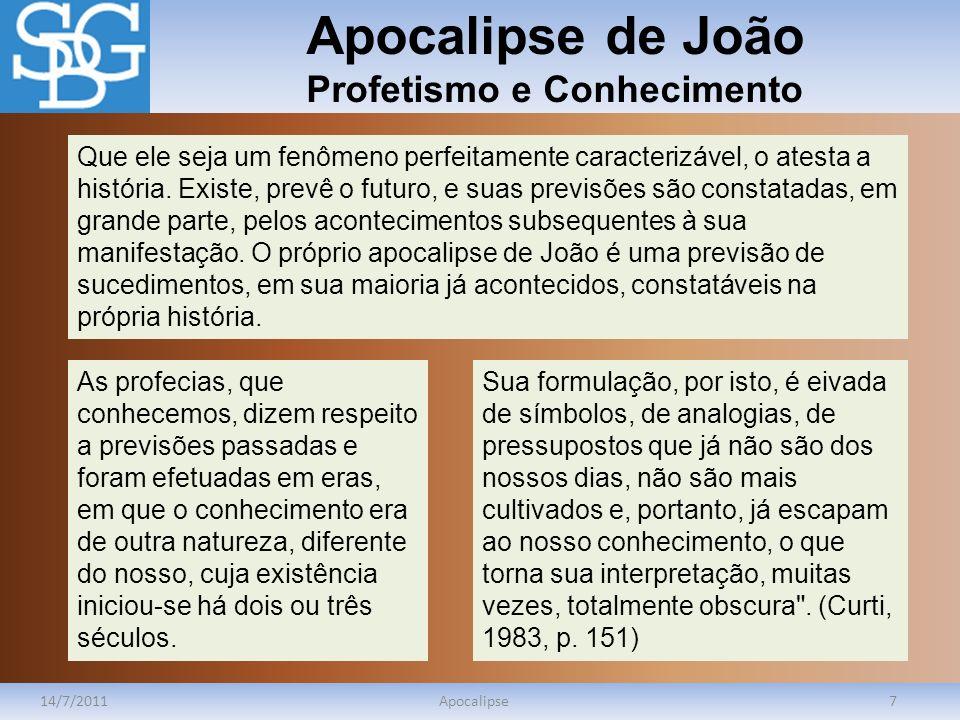 Apocalipse de João Profetismo e Conhecimento