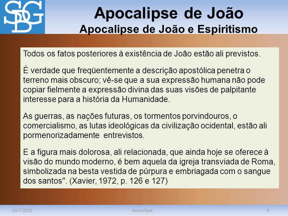 Apocalipse de João Apocalipse de João e Espiritismo