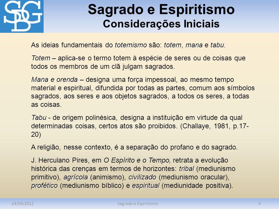 Sagrado e Espiritismo Considerações Iniciais