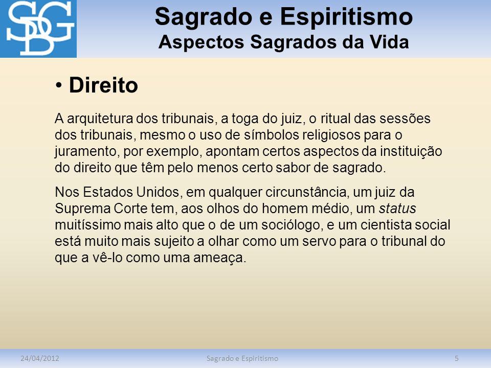 Sagrado e Espiritismo Aspectos Sagrados da Vida