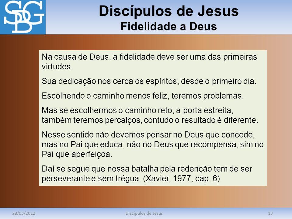 Discípulos de Jesus Fidelidade a Deus