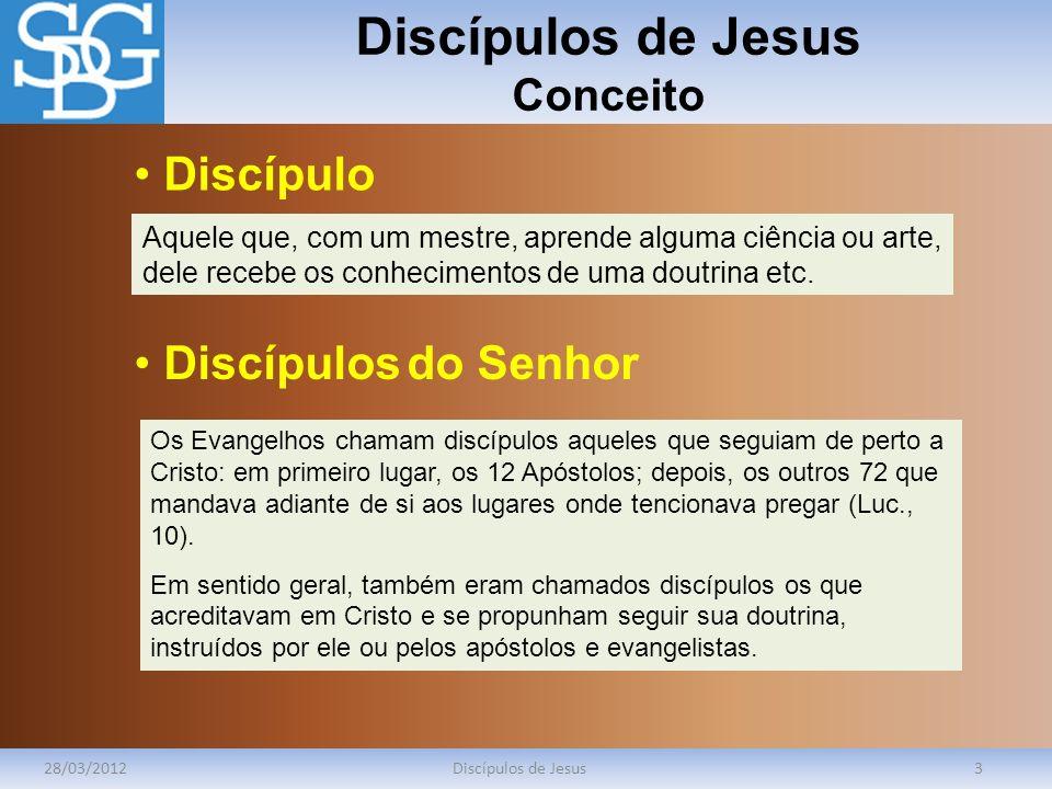 Discípulos de Jesus Conceito