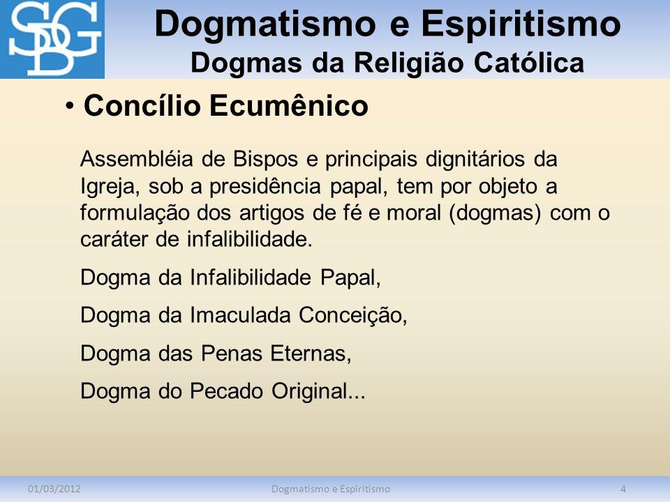 Dogmatismo e Espiritismo Dogmas da Religião Católica