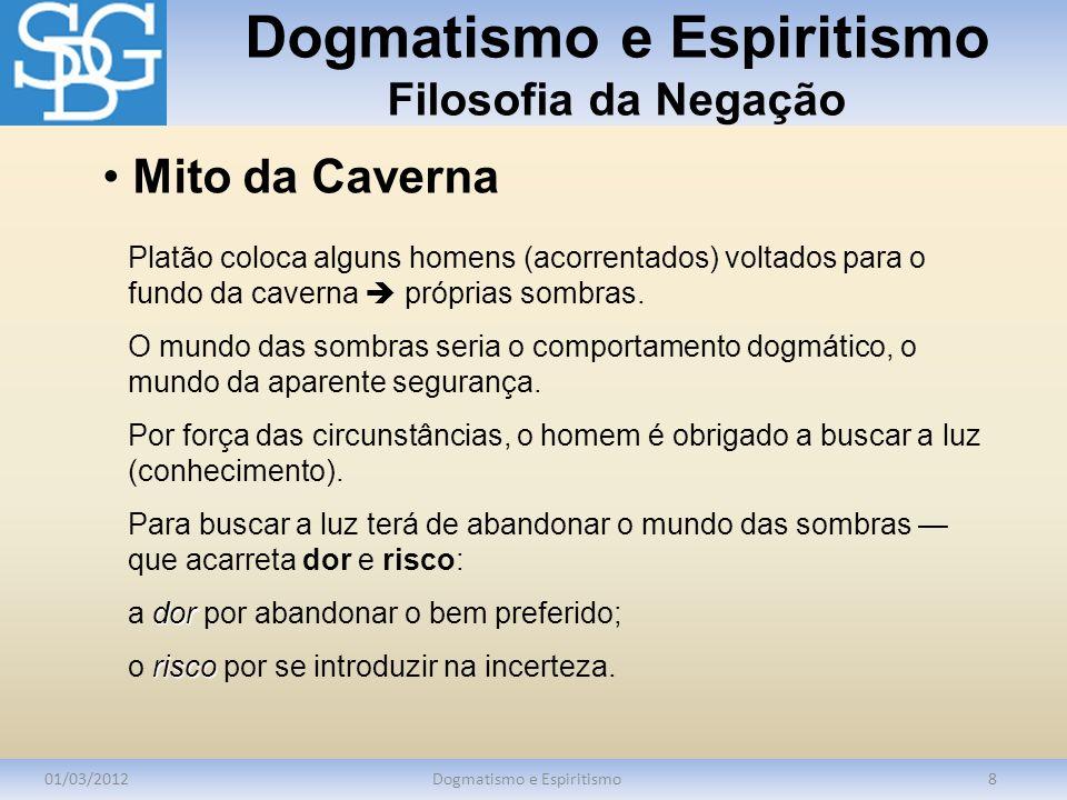 Dogmatismo e Espiritismo Filosofia da Negação