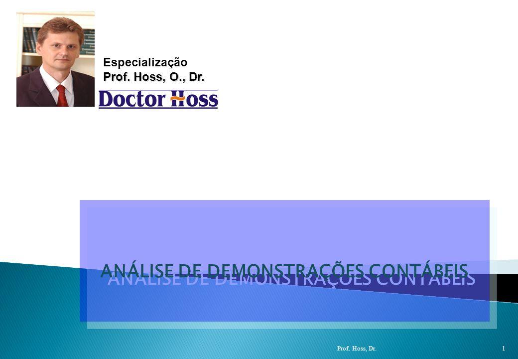 Prof: Osni Hoss - Contabilidade Gerencial