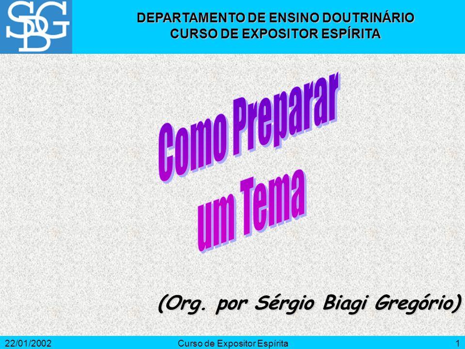 Como Preparar um Tema (Org. por Sérgio Biagi Gregório)