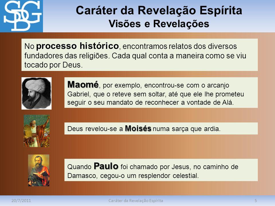 Caráter da Revelação Espírita Visões e Revelações