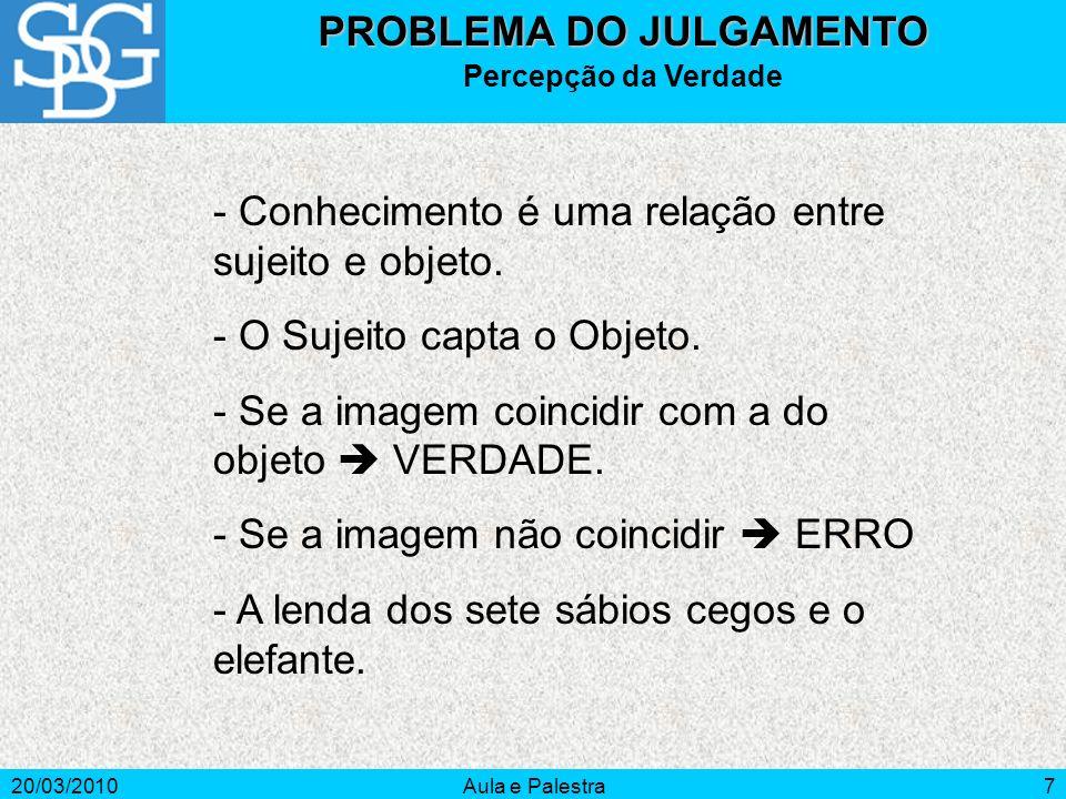 PROBLEMA DO JULGAMENTO