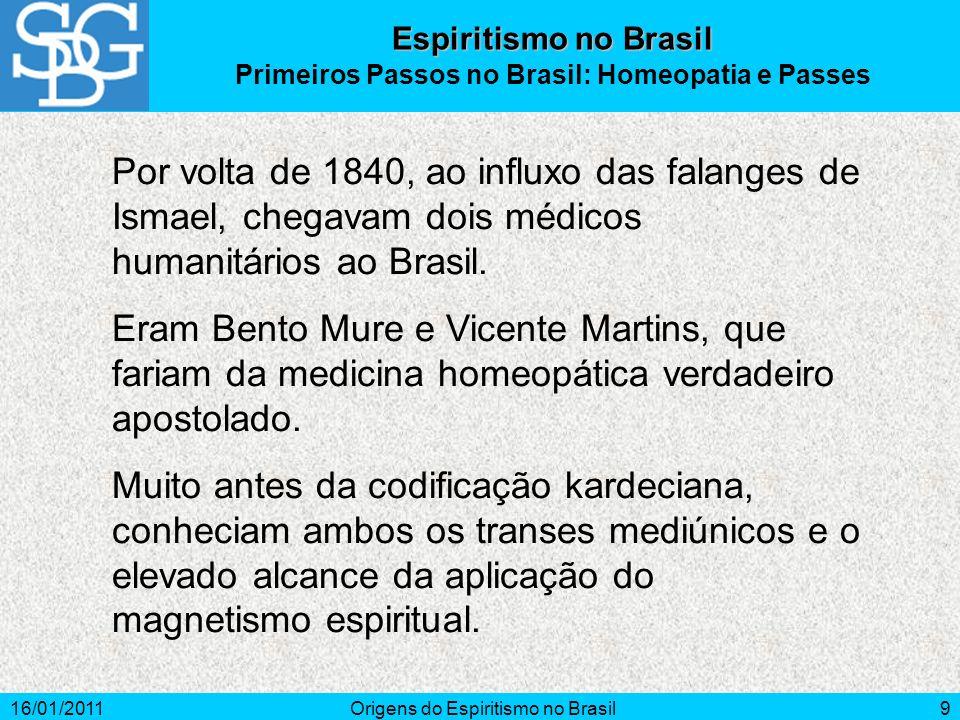 Primeiros Passos no Brasil: Homeopatia e Passes