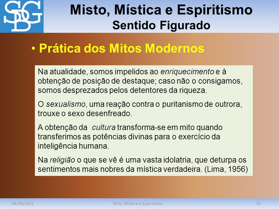 Misto, Mística e Espiritismo Sentido Figurado
