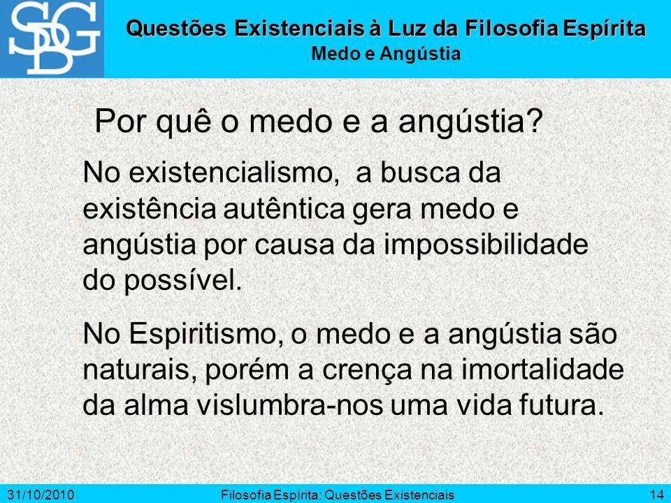 Questões Existenciais à Luz da Filosofia Espírita