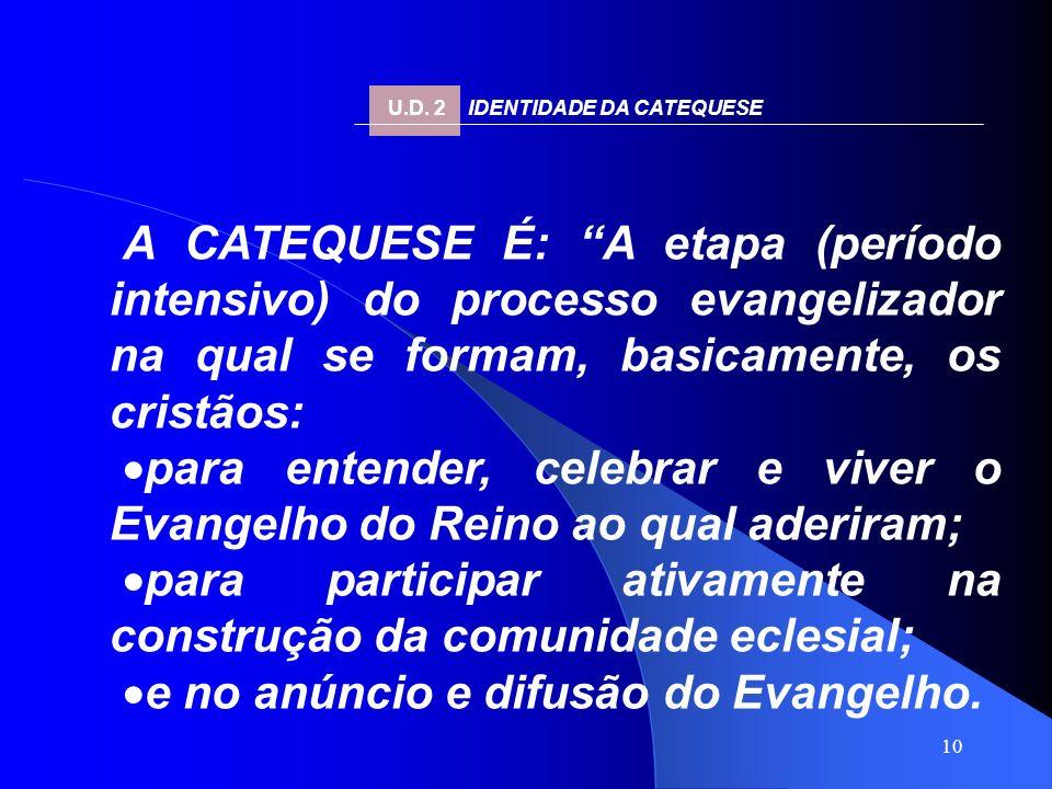 ·para participar ativamente na construção da comunidade eclesial;