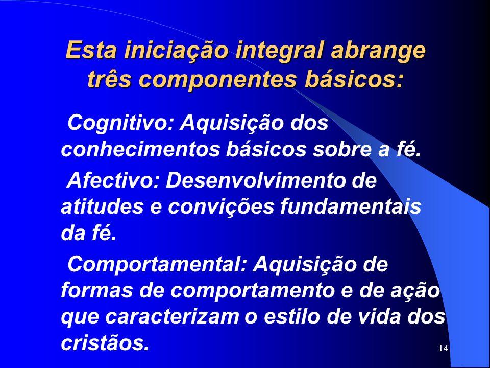 Esta iniciação integral abrange três componentes básicos: