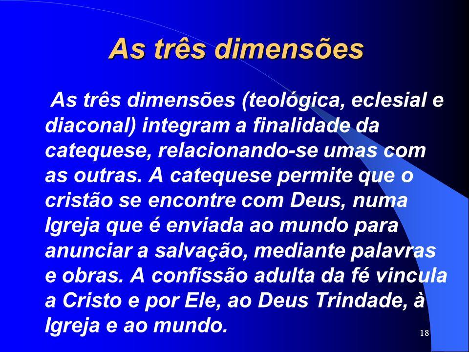 As três dimensões