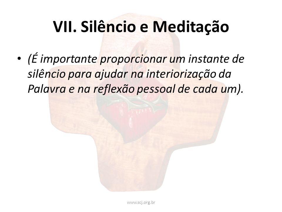 VII. Silêncio e Meditação