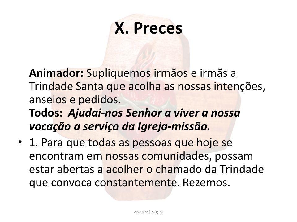 X. Preces