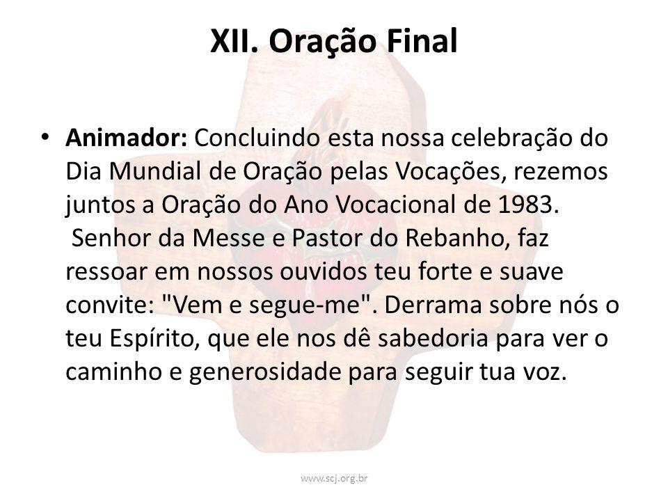 XII. Oração Final