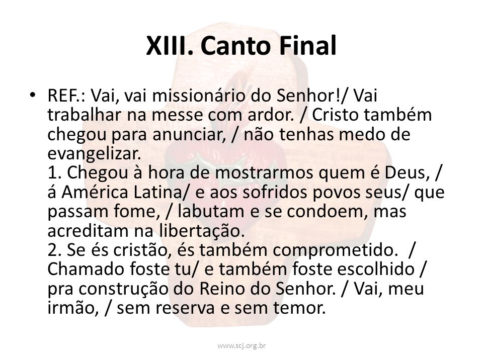 XIII. Canto Final