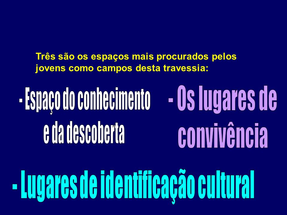 - Lugares de identificação cultural