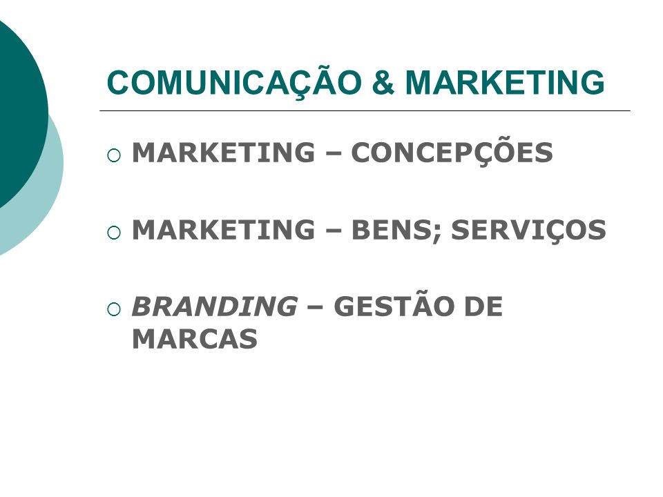 COMUNICAÇÃO & MARKETING