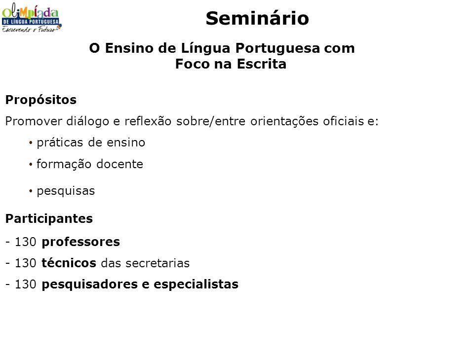 O Ensino de Língua Portuguesa com Foco na Escrita