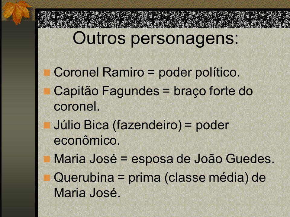Outros personagens: Coronel Ramiro = poder político.