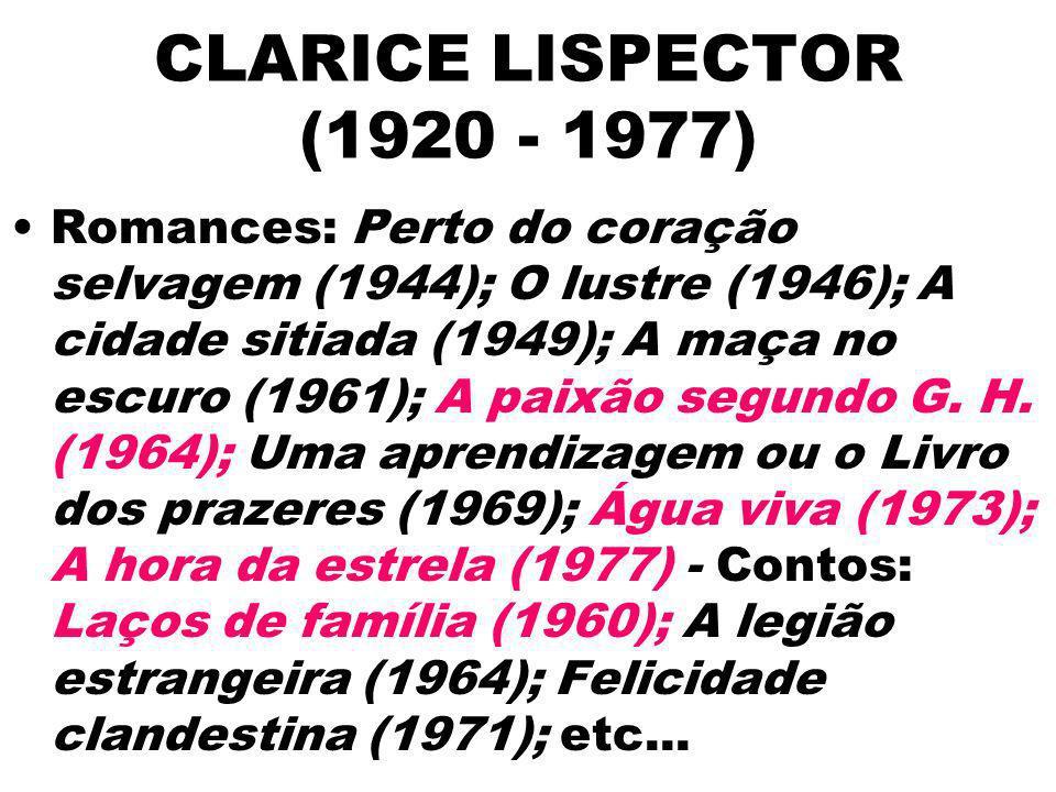 CLARICE LISPECTOR (1920 - 1977)