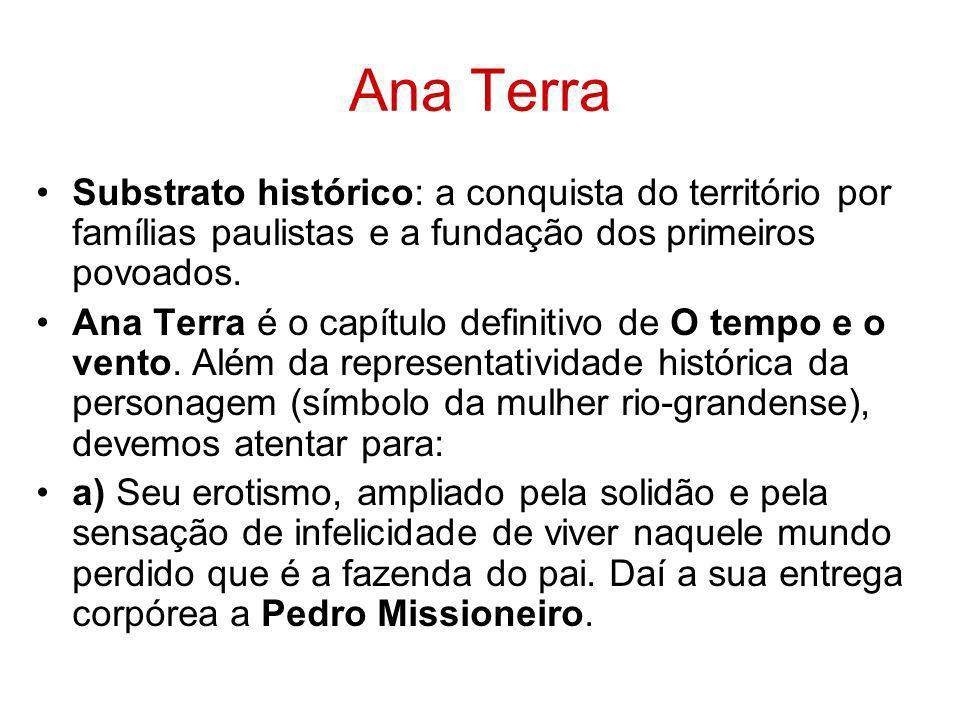 Ana TerraSubstrato histórico: a conquista do território por famílias paulistas e a fundação dos primeiros povoados.