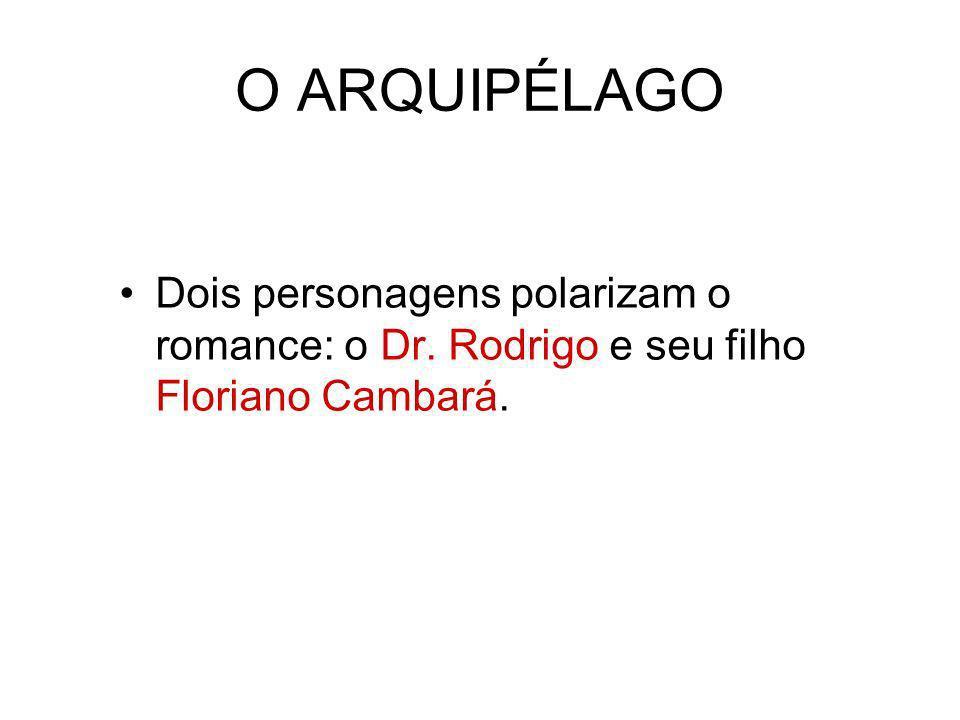 O ARQUIPÉLAGO Dois personagens polarizam o romance: o Dr. Rodrigo e seu filho Floriano Cambará.