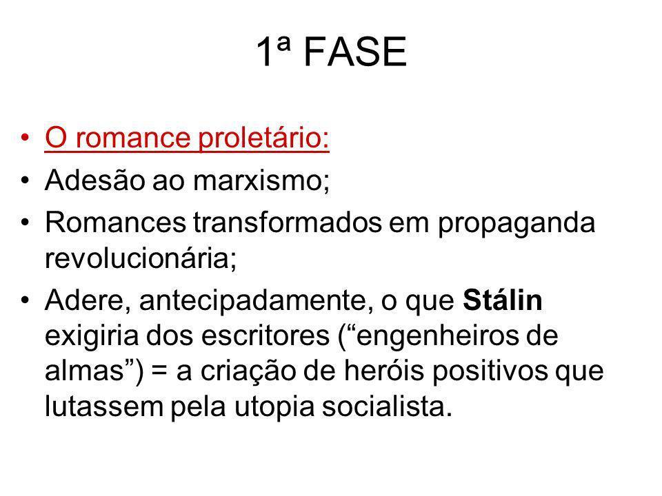 1ª FASE O romance proletário: Adesão ao marxismo;