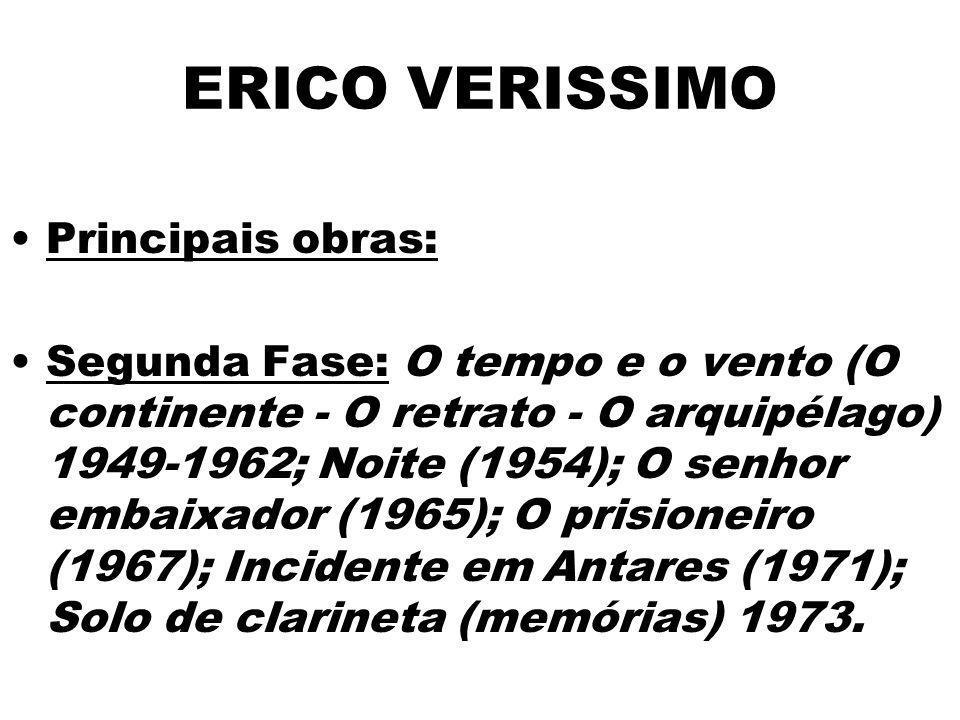 ERICO VERISSIMO Principais obras:
