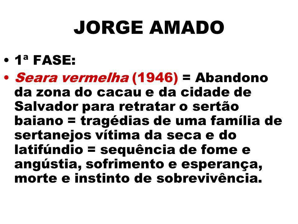 JORGE AMADO 1ª FASE: