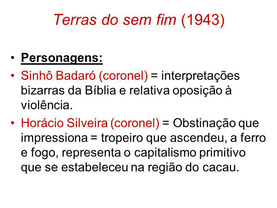 Terras do sem fim (1943) Personagens: