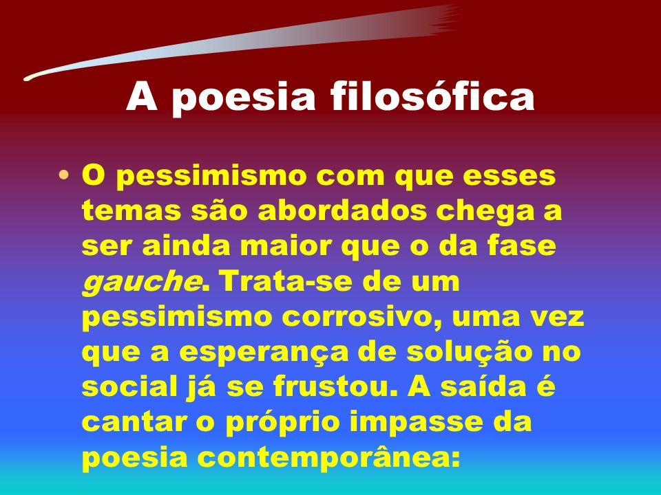 A poesia filosófica