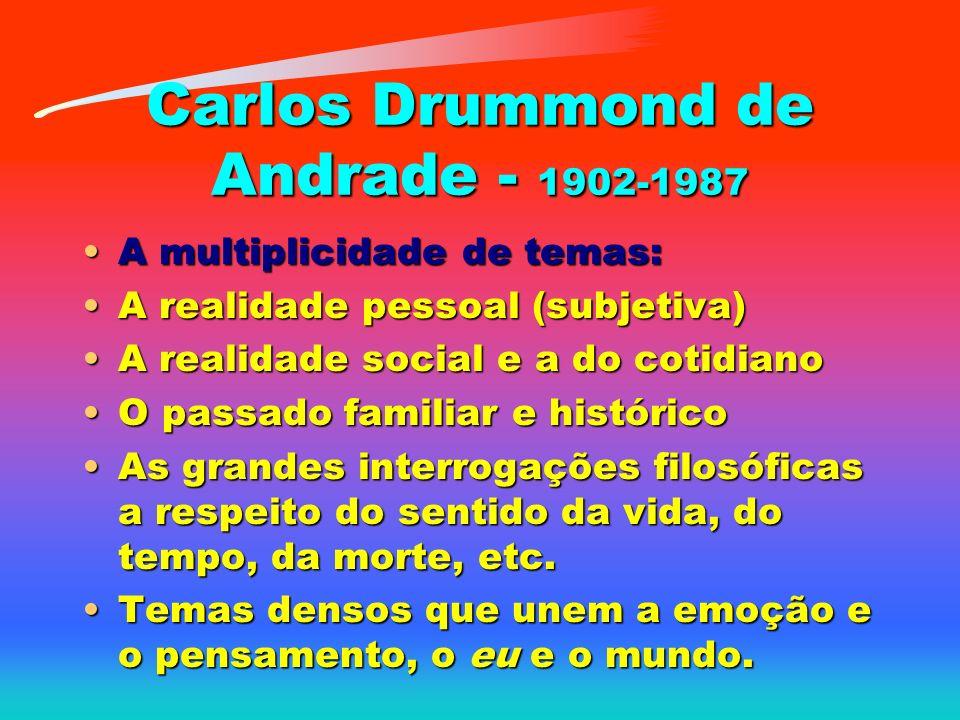 Carlos Drummond de Andrade - 1902-1987