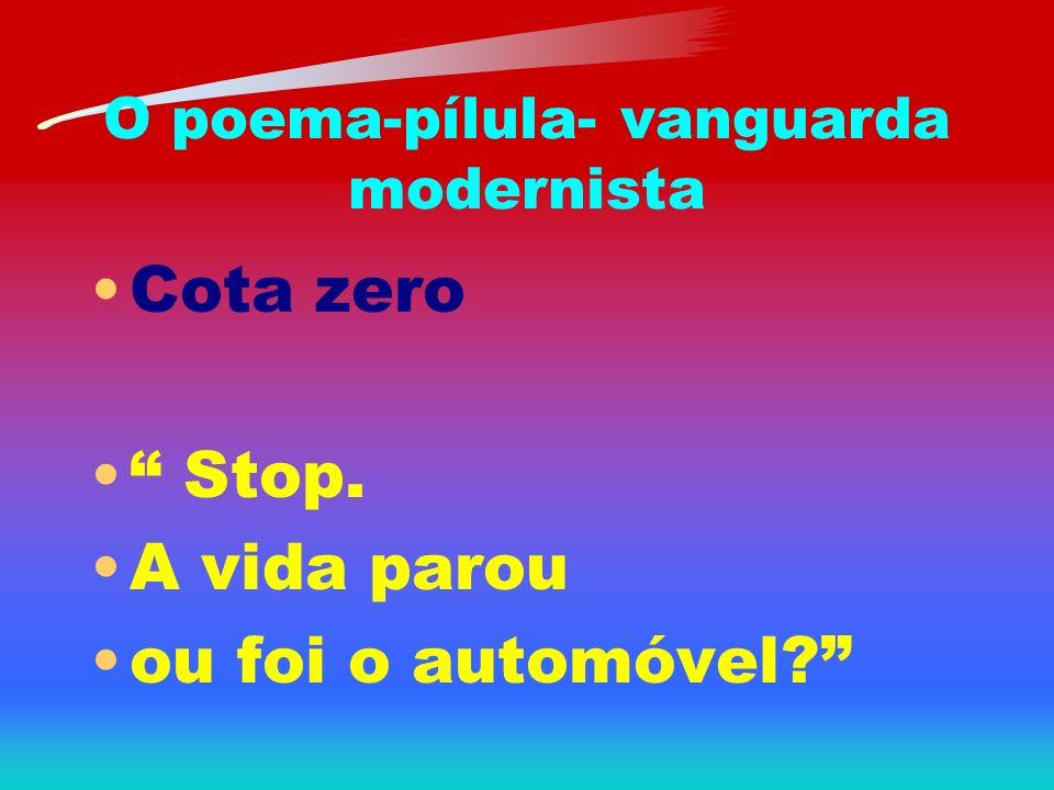O poema-pílula- vanguarda modernista