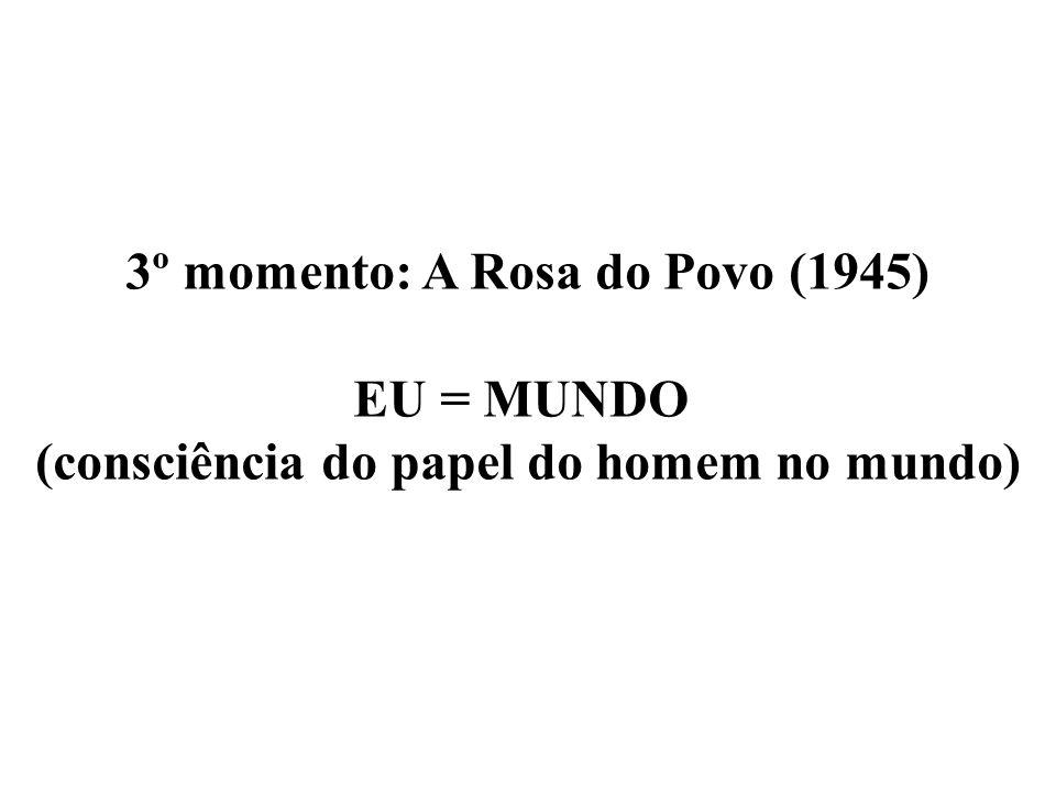 3º momento: A Rosa do Povo (1945) EU = MUNDO