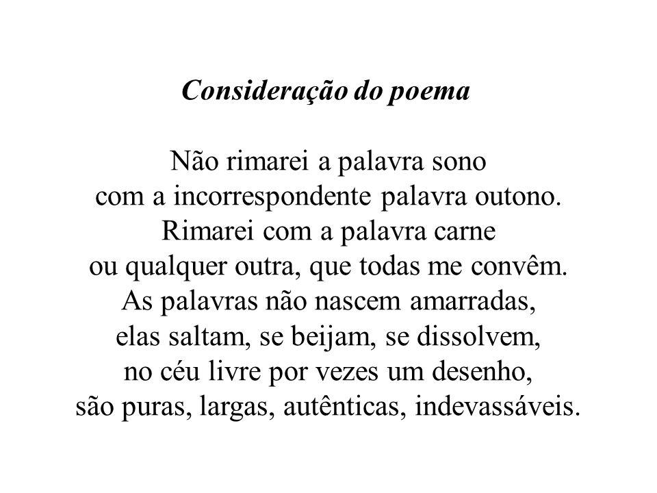 Consideração do poema
