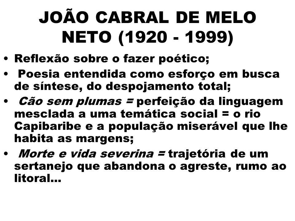 JOÃO CABRAL DE MELO NETO (1920 - 1999)